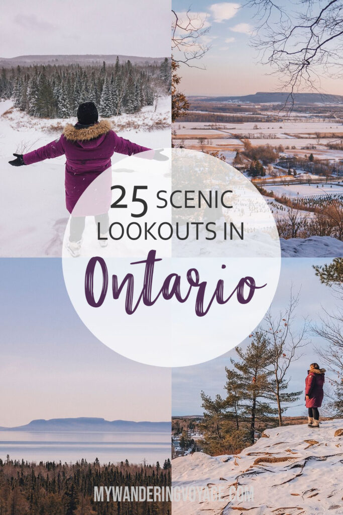 There's no doubt that Ontario is a beautiful place. See it from above with these 25 best scenic lookouts in Ontario. | My Wandering Voyage travel blog #scenic #Ontario #travel #Canada