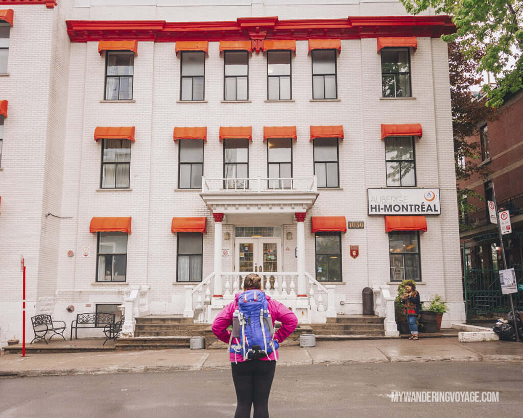 Women standing in front of Hostels International Montreal | Canada Travel Guide | My Wandering Voyage travel blog