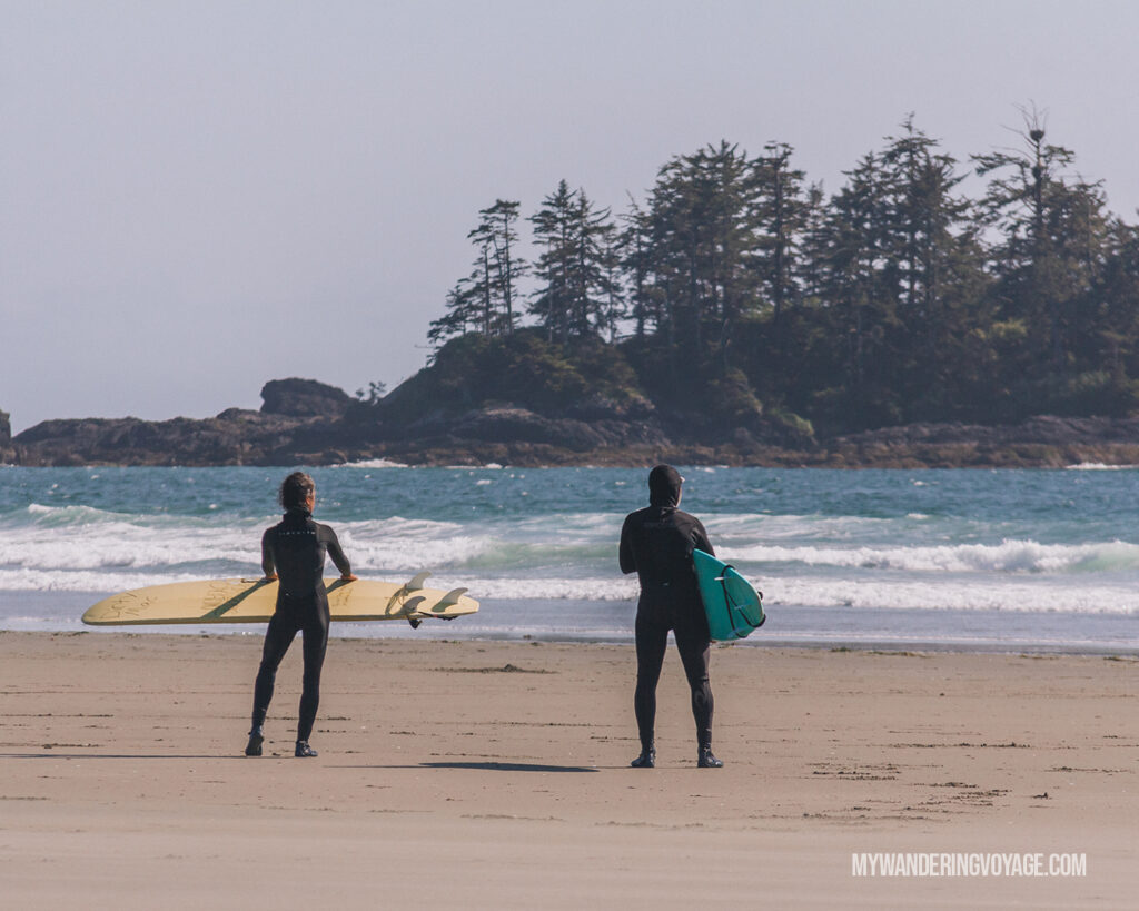 Surfing near Tofino | Vancouver Island road trip 5 day itinerary | My Wandering Voyage