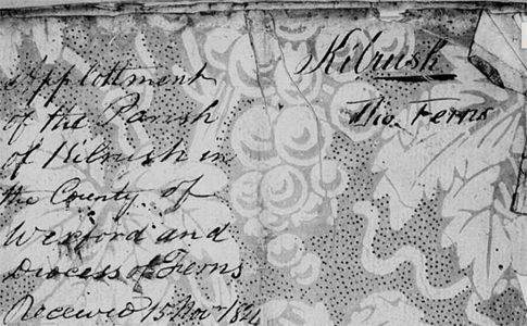 Misfiled Parishes in the Tithe Applotment Books: Carnew (Wicklow & Wexford), Graney (Kildare), Kilrush (Wexford)
