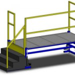 Fixed Steps Operator Lift Platform by LTW Ergonomic Solutions
