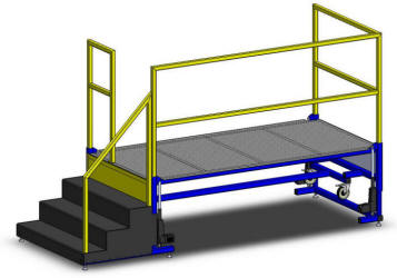 LTW Ergonomic Fixed Steps Platform