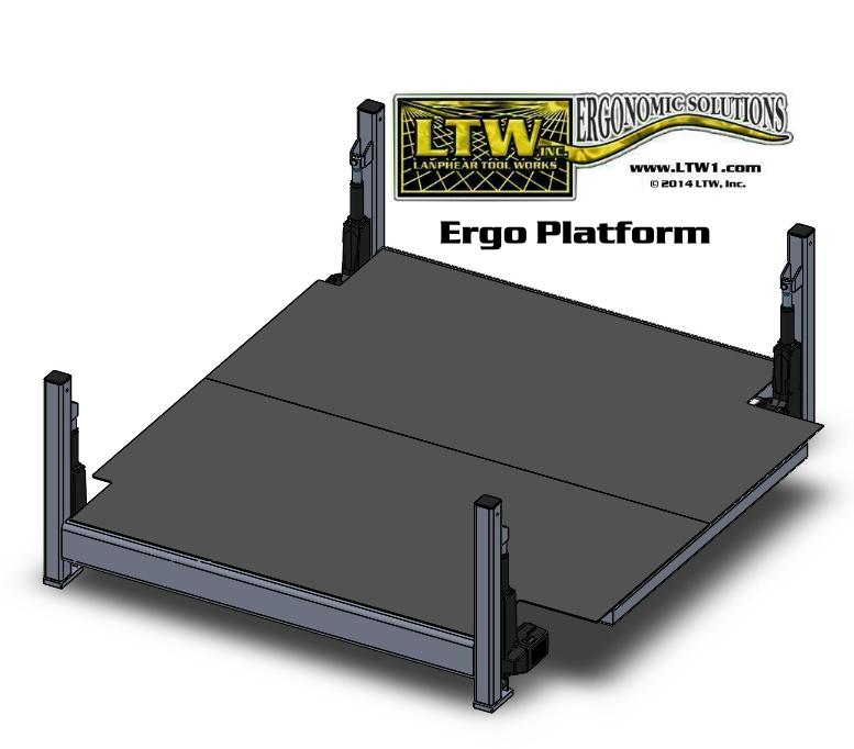 height adjustable fabricating and machining operator platform lift