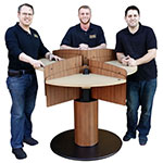 height adjustable hotel lobby standing meeting table furniture