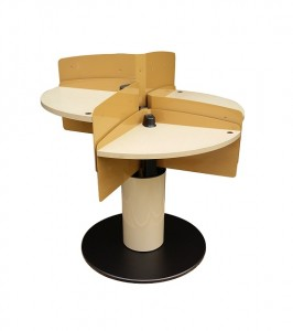 LTW, Inc. LTW Ergonomic Solutions Conference Meeting Table Standing Meeting Table adjustable height conference table round mushroom