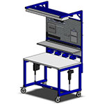 height adjustable fabricating and machining workstation