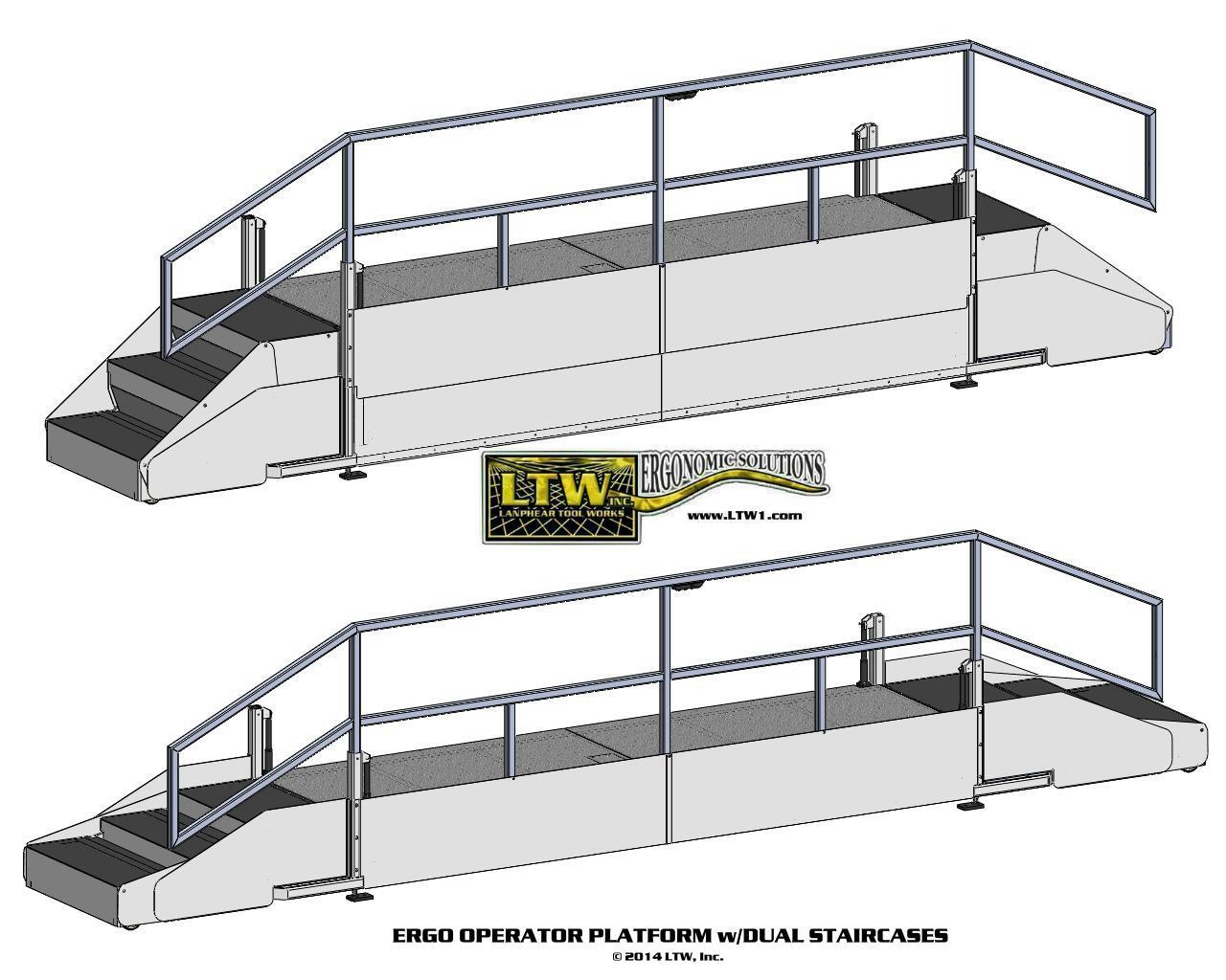 height adjustable warehouse operator platform