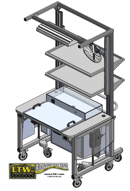 Gen III RCT Ergonomic Rear Load Workstation with Jig System LTW Ergonomic Solutions