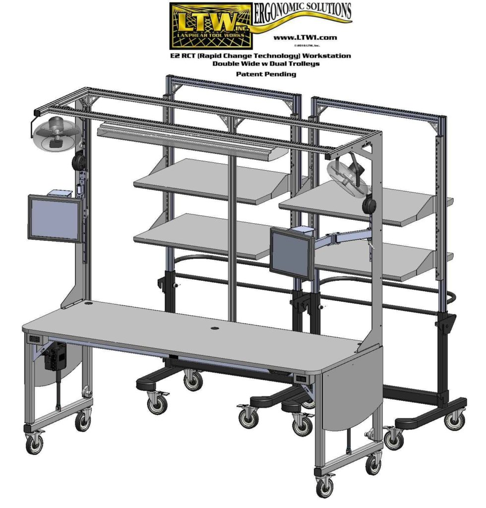 Gen IIII E2 Workstation with Trolley LTW Ergonomic Solutions