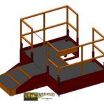 LTW Ergonomic Solutions E4LC Ergo Operator Lift Platform Lowered