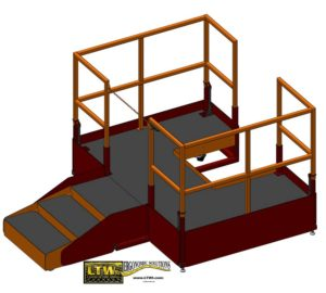 LTW Ergonomic Solutions E4LC Ergo Operator Lift Platform Lowered