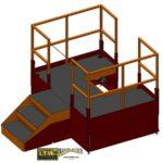 LTW Ergonomic Solutions E4LC Ergo Operator Lift Platform Raised