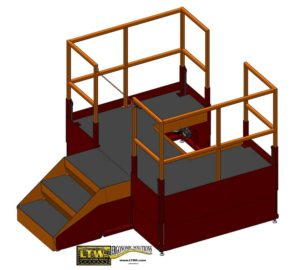 LTW Ergonomic Solutions E4LC Ergo Operator Lift Platform Raised