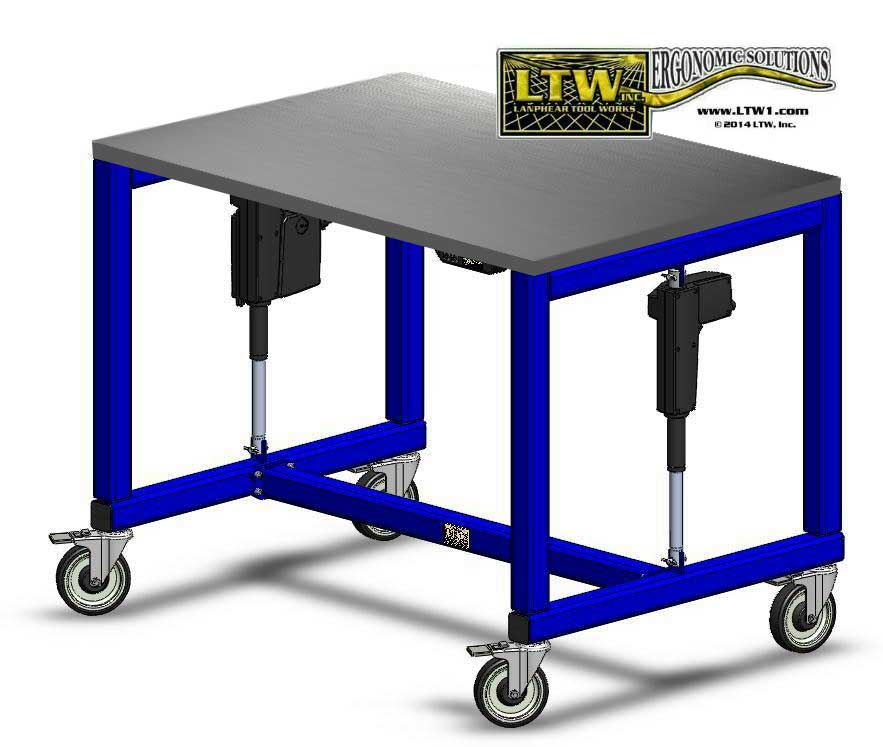 height adjustable manufacturing table