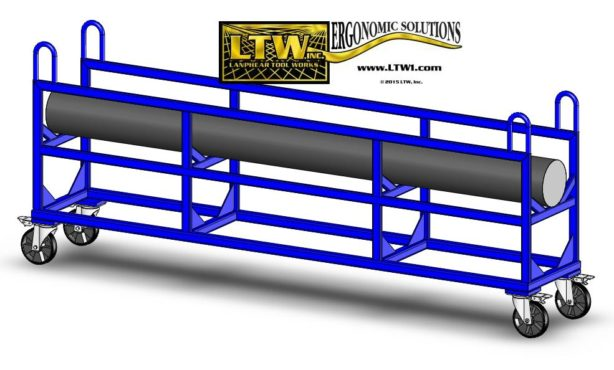 E4 Steel Bar Cart for moving heavy weight bars by LTW Ergonomic Solutions