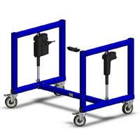 height adjustable warehouse machine base