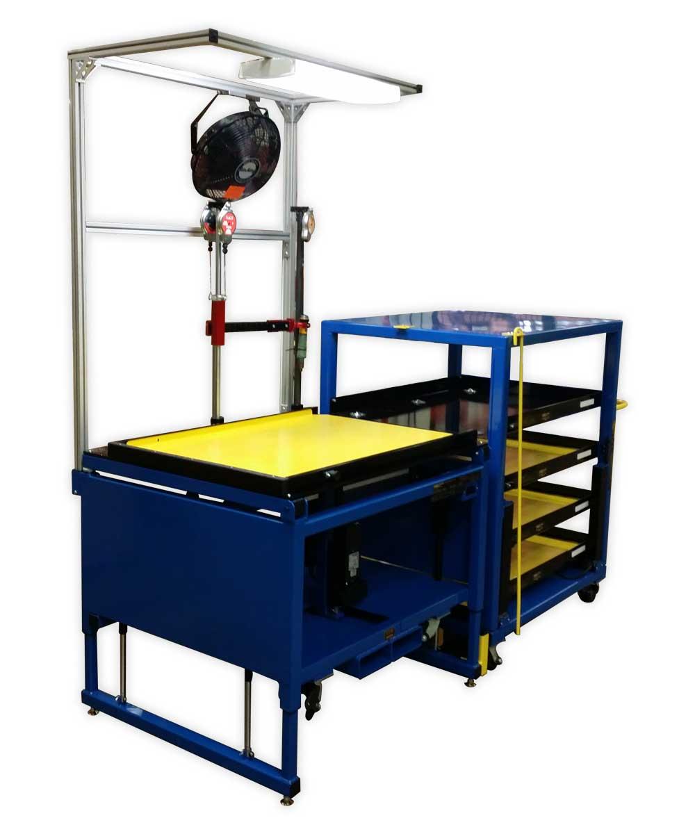 LTW Ergonomic Solutions RCT-SL Workstation and Cart System Left