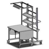 height adjustable assembly workstation