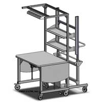 height adjustable retail workstation