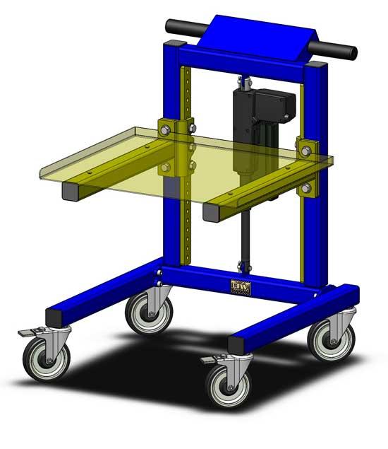 E1 Cart Gen II Material Handling Cart Rapid Change Technology by LTW Ergonomic Solutions