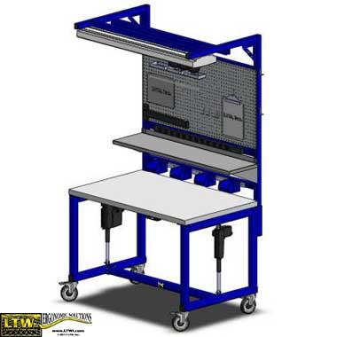 height adjustable automotive workstation