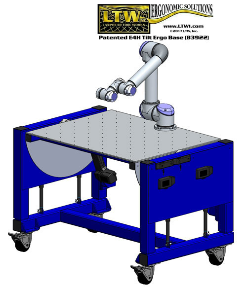 height adjustable automotive robot table