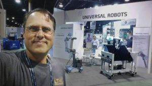 LTW Ergonomic Solutions with Universal Robots at The ASSEMBLY Show - CoBase™ for Cobots - Height adjustable cobot table