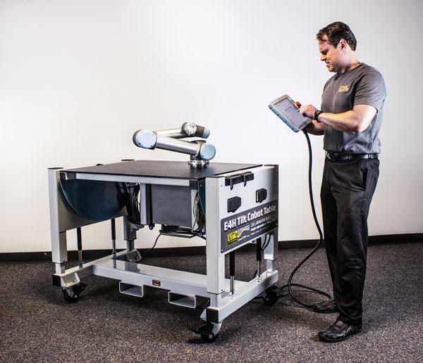 E4H Tilt Cobot Table CoBase™- Table for collaborative robots - Copyright LTW Ergonomic Solutions