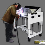 Welding Table - Height Adjustable Tilting Welding Table by LTW Ergonomic Solutions
