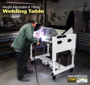 Welding Table - Height Adjustable Tilting Welding Table by LTW Ergonomic Solutions