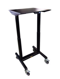 Fast Lift Height Adjustable E2 Table with Column Lifts by LTW Ergonomic Solutions - Raised