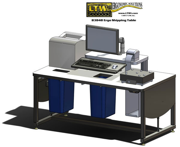 Shipping Workstation by LTW Ergonomic Solutions
