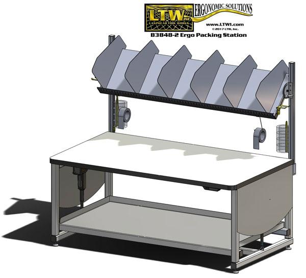 E4H Tilt Cobot Table Collaborative Robot Table by LTW Ergonomic Solutions