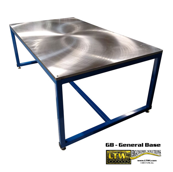 Industrial Steel Machine Base Table by LTW Ergonomic Solutions