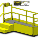 E4LC Height Adjustable Operator Platform Lift - Lowered - LTW Ergonomic Solutions