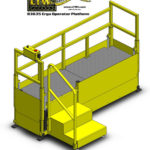 E4LC Height Adjustable Operator Platform Lift - Raised - LTW Ergonomic Solutions