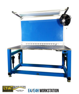 Height adjustable industrial workbench - E4/E4H Workbench - LTW Ergonomic Solutions