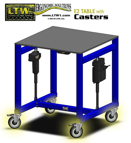 LTW-E2-Ergo-Table-w-Steel-Top-Casters-Patented 2
