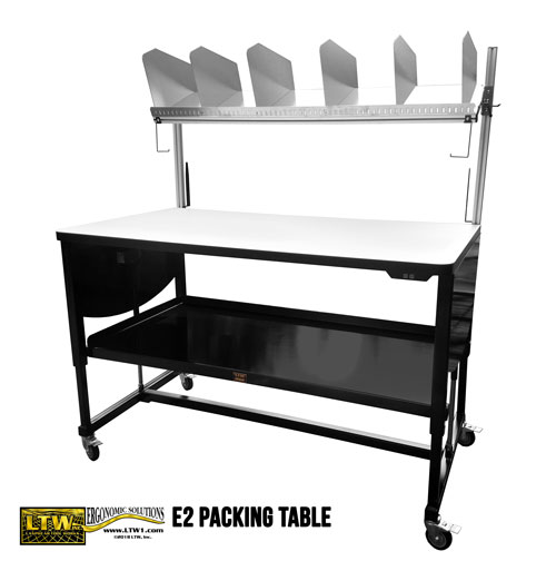 Height Adjustable Packing Table - E2 Packing Table LTW Ergonomic Solutions