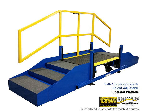 Height Adjustable Operator Platform for Large Machines - LTW Ergonomic Solutions
