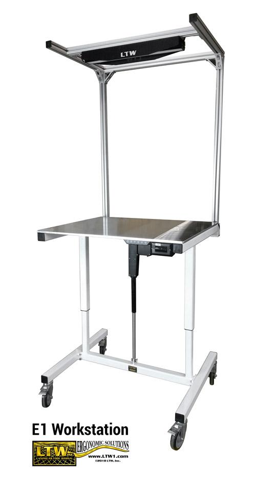 E1 Workstation - LTW Ergonomic Solutions Industrial Height Adjustable Electric Workstation Workbench 20190328_080749-edit