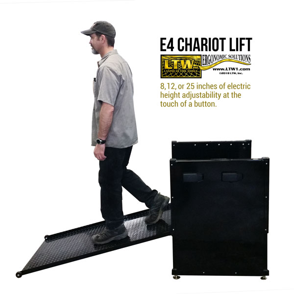Operator Lift for Machines with Ramp - Electric Operator Platform E4 Chariot