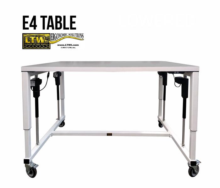 Adjustable Industrial Table - Industrial Ergonomic E4 Table - LTW Ergonomic Solutions
