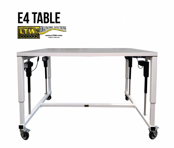 Adjustable Industrial Table - Industrial Ergonomic E4 Table - LTW Ergonomic Solutions