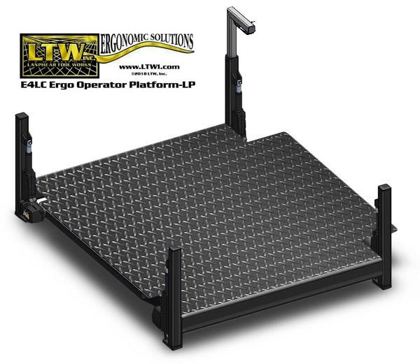 Low Profile Platform: Adjustable Operator Lift Platform by LTW Ergonomic Solutions
