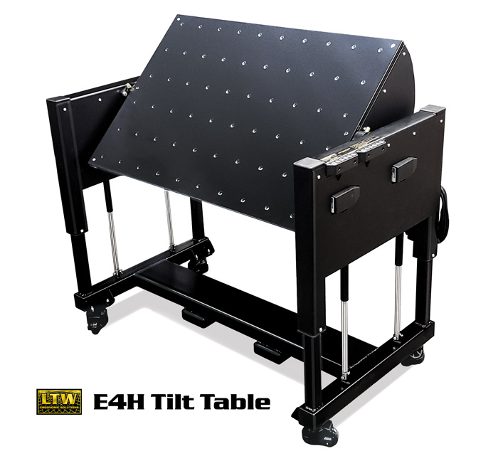 E4H Tilt - Height Adjustable Industrial Table with Tilting Tabletop by LTW Ergonomic Solutions