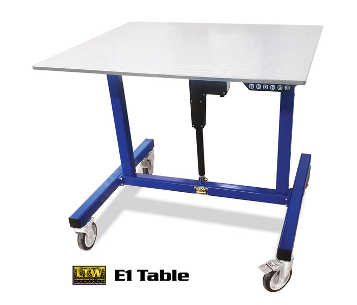 Industrial Height Adjustable Table by LTW Ergonomic Solutions