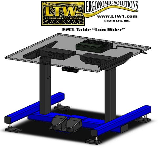 LTW-E2CL-Ergo-Base-w-Levelers-&-LowRider-B4904