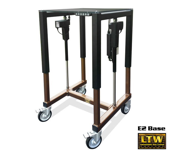 E2 Height Adjustable Machine Base for Industrial Ergonomics by LTW Ergonomic Solutions