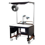 Collaborative Robot Workstation  Industrially Height Adjustable Cobot Trolley by LTW Ergonomic Solutions